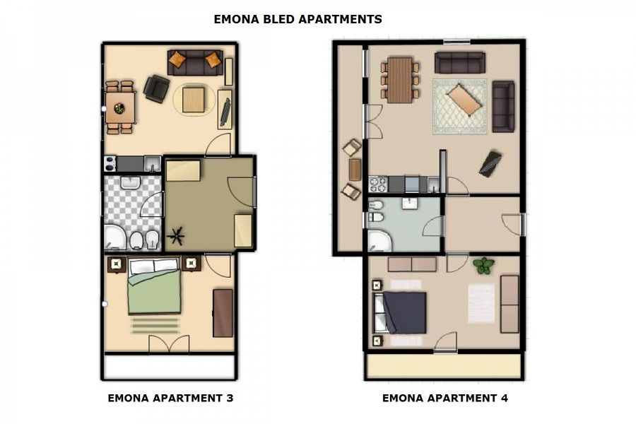 Emona apartments 3 4 think slovenia for 45m2 apartment design