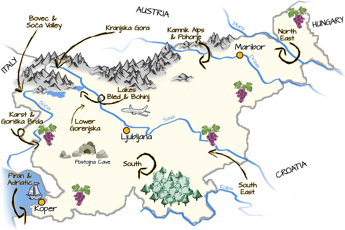 Area Guides Think Slovenia - Where is slovenia