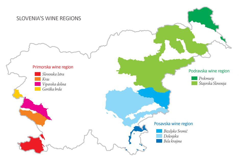 Slovenian Wine Think Slovenia - Us wine regions map